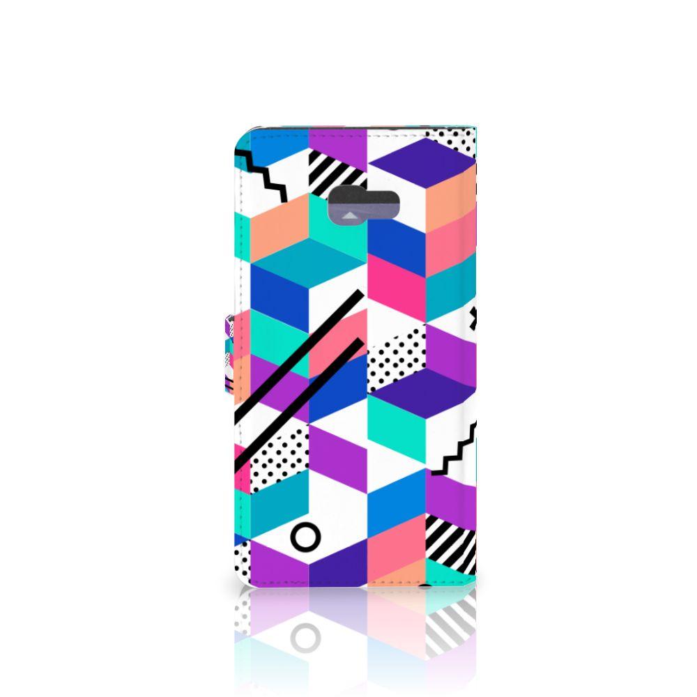 Samsung Galaxy A7 2017 Bookcase Blokken Kleurrijk