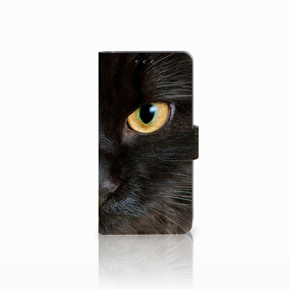 Samsung Galaxy A8 2018 Uniek Boekhoesje Zwarte Kat