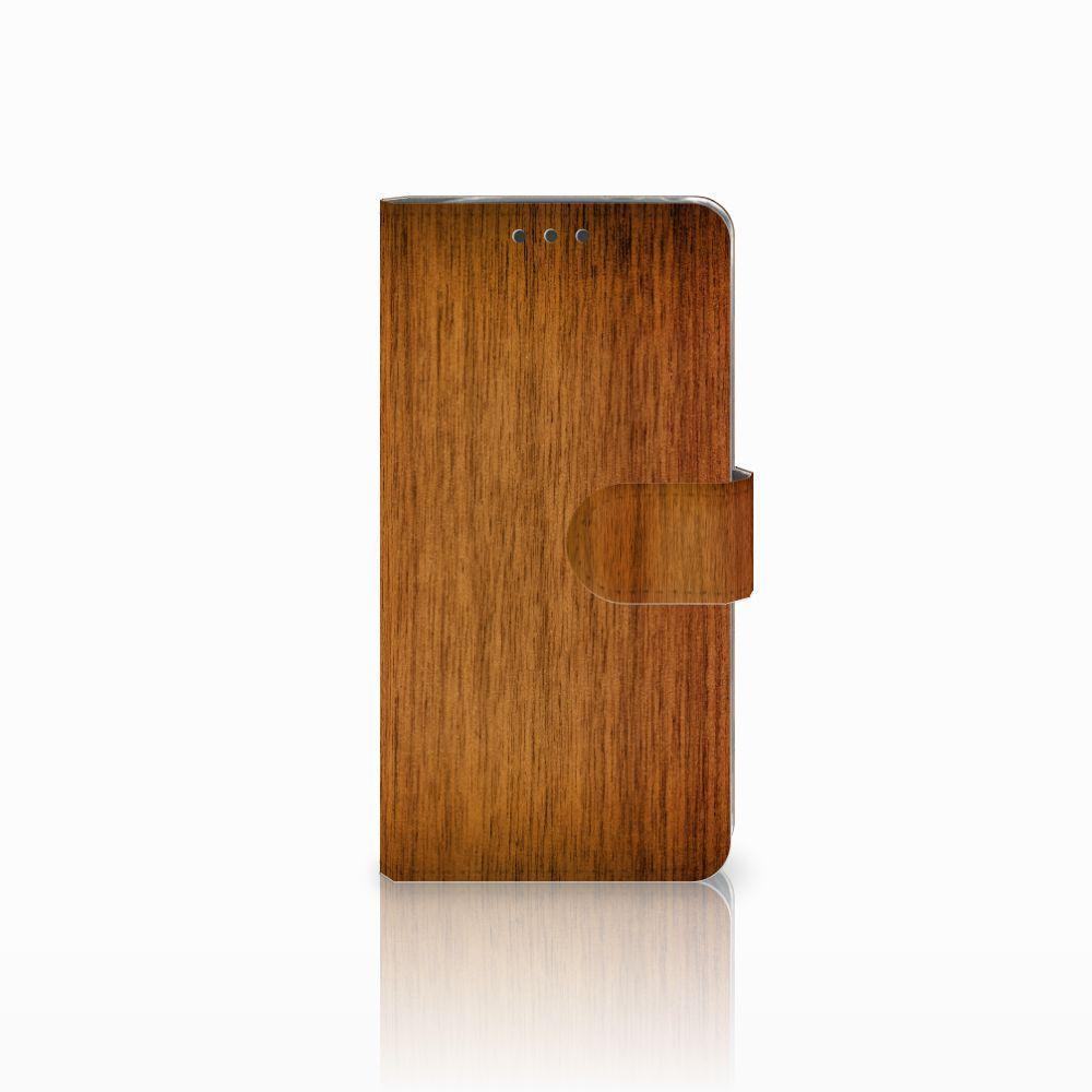 LG G5 Uniek Boekhoesje Donker Hout