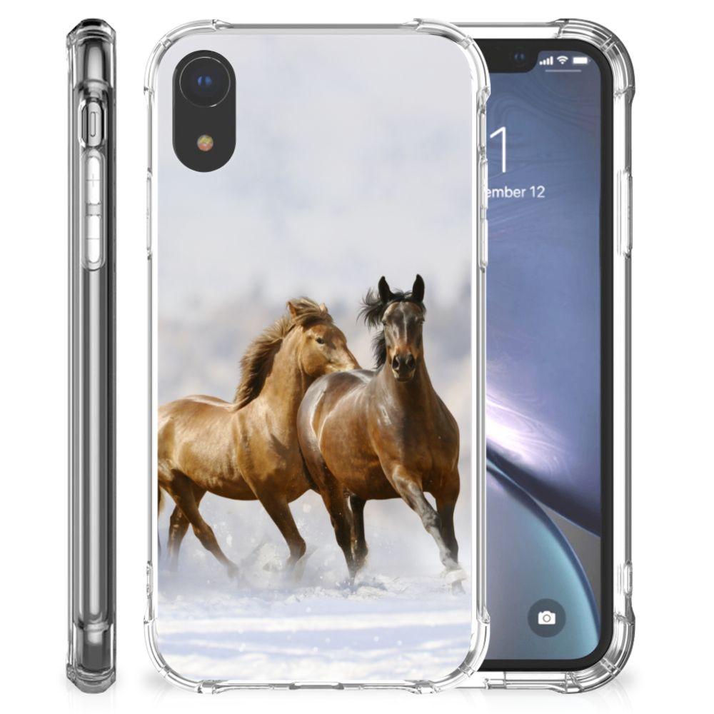 Apple iPhone Xr Uniek TPU Hoesje Paarden