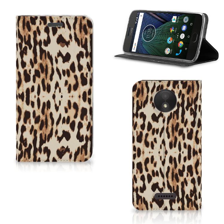 Motorola Moto C Plus Hoesje maken Leopard