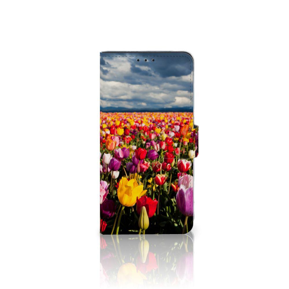 Samsung Galaxy J4 Plus (2018) Uniek Boekhoesje Tulpen