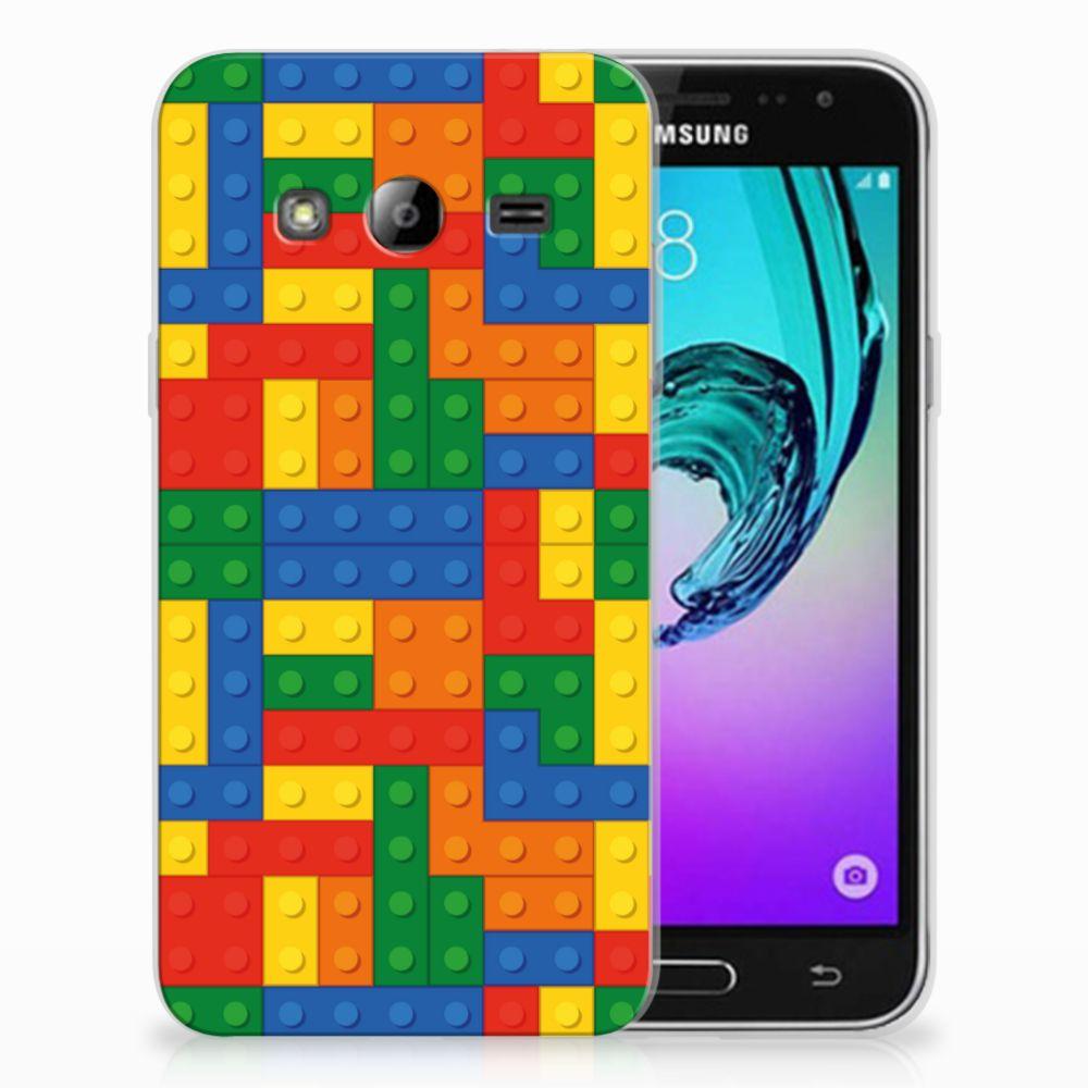 Samsung Galaxy J3 2016 TPU Hoesje Design Blokken