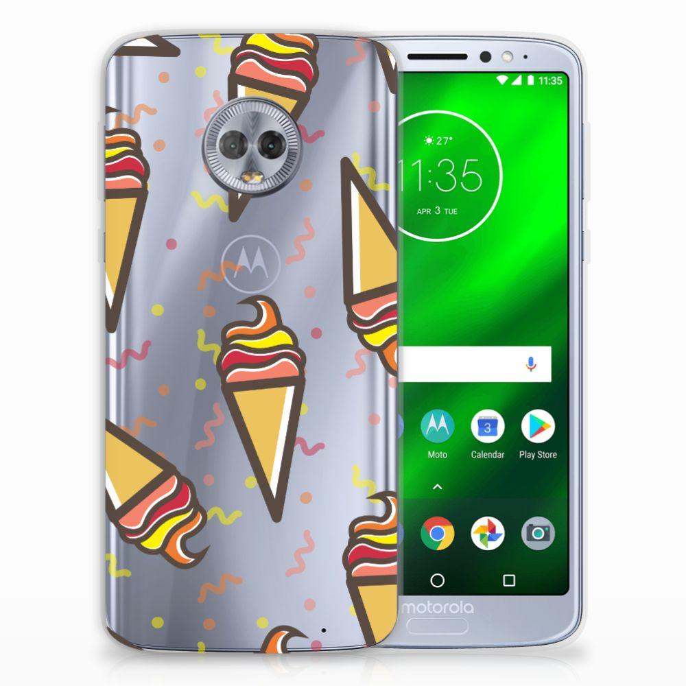 Motorola Moto G6 Plus Siliconen Case Icecream
