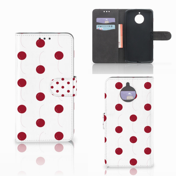Motorola Moto E4 Plus Book Cover Cherries