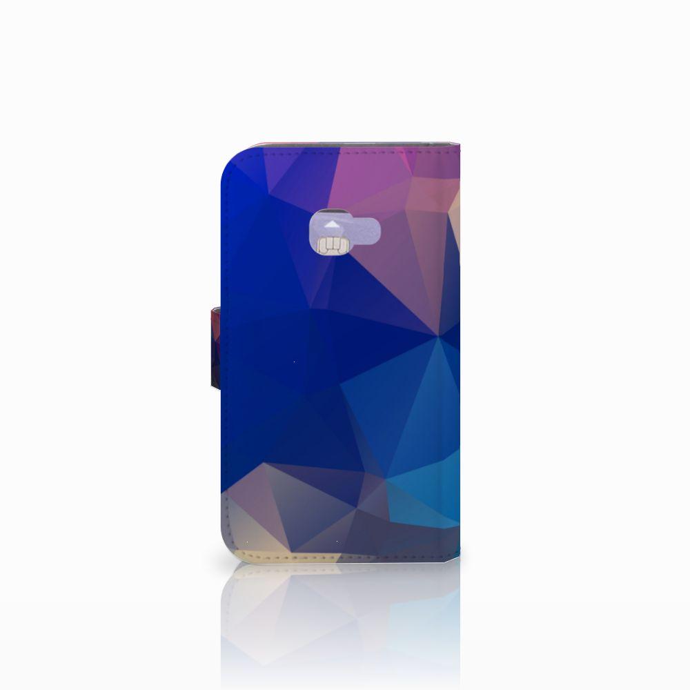 Samsung Galaxy Xcover 4   Xcover 4s Bookcase Polygon Dark