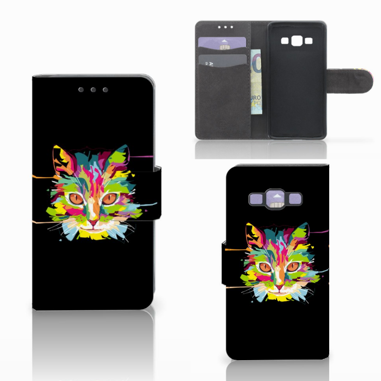 Samsung Galaxy A3 2015 Leuke Hoesje Cat Color