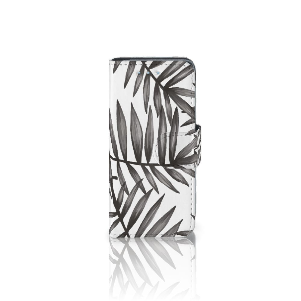 Samsung Galaxy S4 Mini i9190 Uniek Boekhoesje Leaves Grey