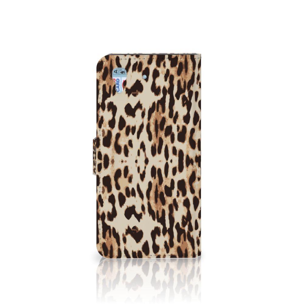 Honor 4A | Y6 Telefoonhoesje met Pasjes Leopard