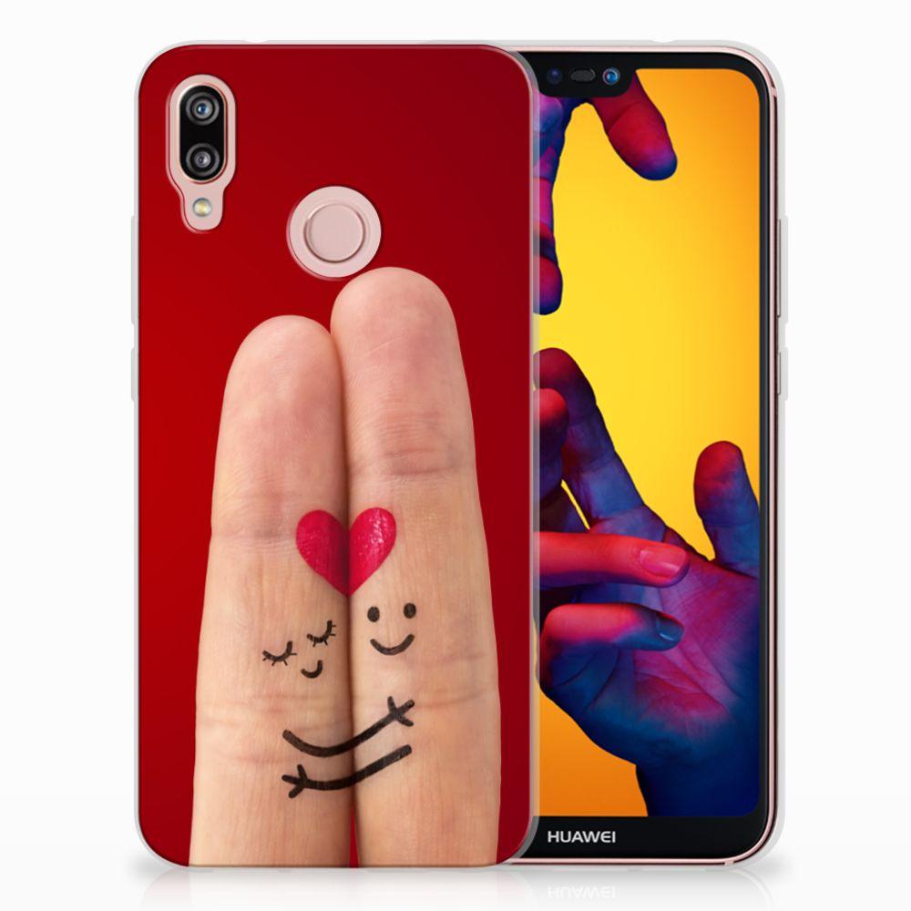 Huawei P20 Lite Uniek TPU Hoesje Liefde