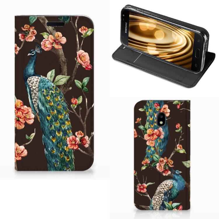 Samsung Galaxy J3 2017 Hoesje maken Pauw met Bloemen