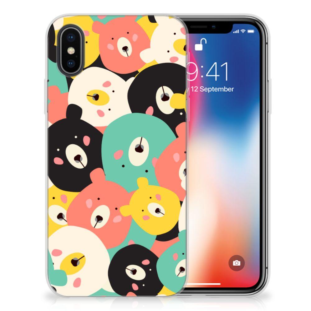 Apple iPhone X | Xs Telefoonhoesje met Naam Bears