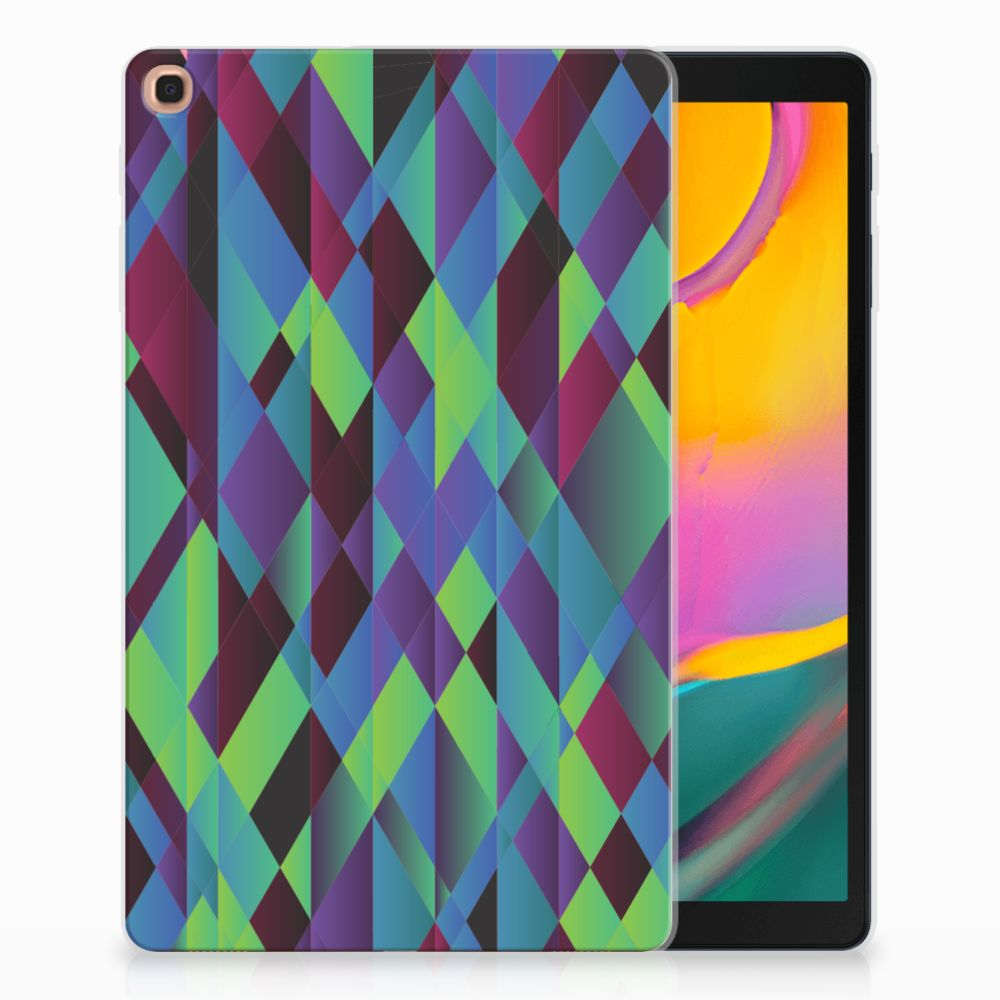 Samsung Galaxy Tab A 10.1 (2019) Back Cover Abstract Green Blue