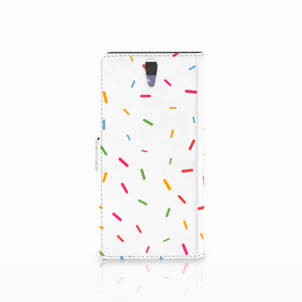 Sony Xperia C5 Ultra Book Cover Donut Roze