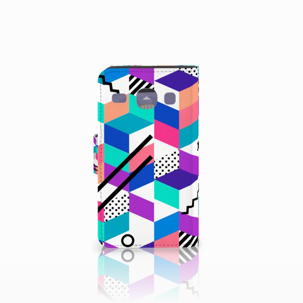 Samsung Galaxy Core i8260 Bookcase Blokken Kleurrijk