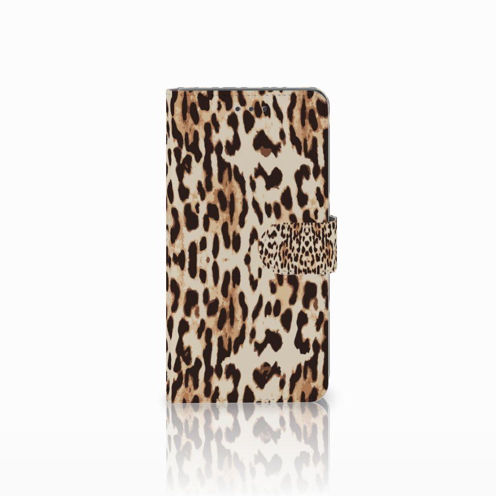 Huawei Mate 8 Uniek Boekhoesje Leopard