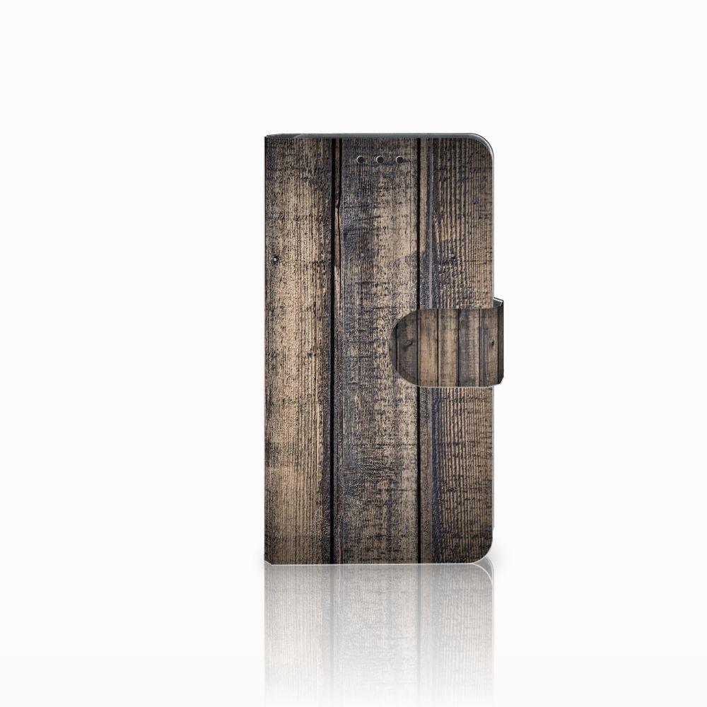Huawei Y6 Pro 2017 Boekhoesje Design Steigerhout