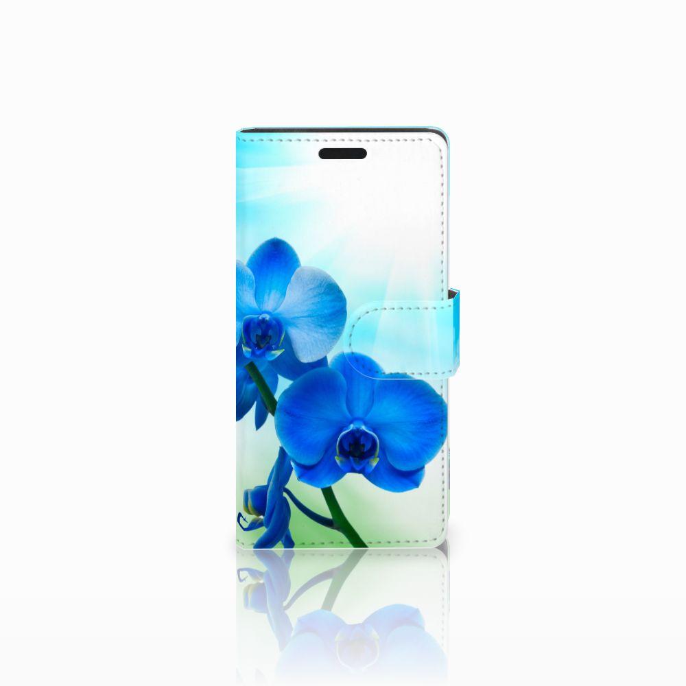 LG Leon 4G Boekhoesje Design Orchidee Blauw