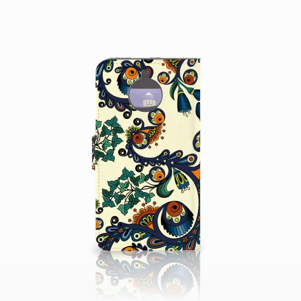 Wallet Case Motorola Moto E4 Plus Barok Flower