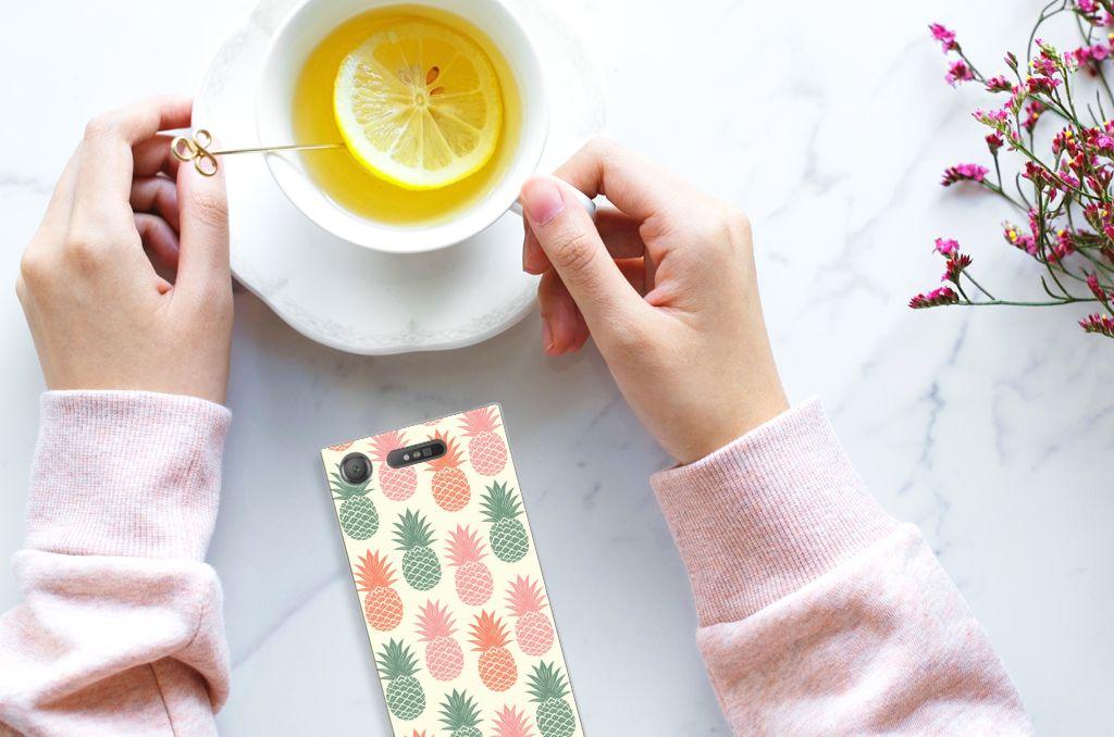 Sony Xperia XZ1 Siliconen Case Ananas