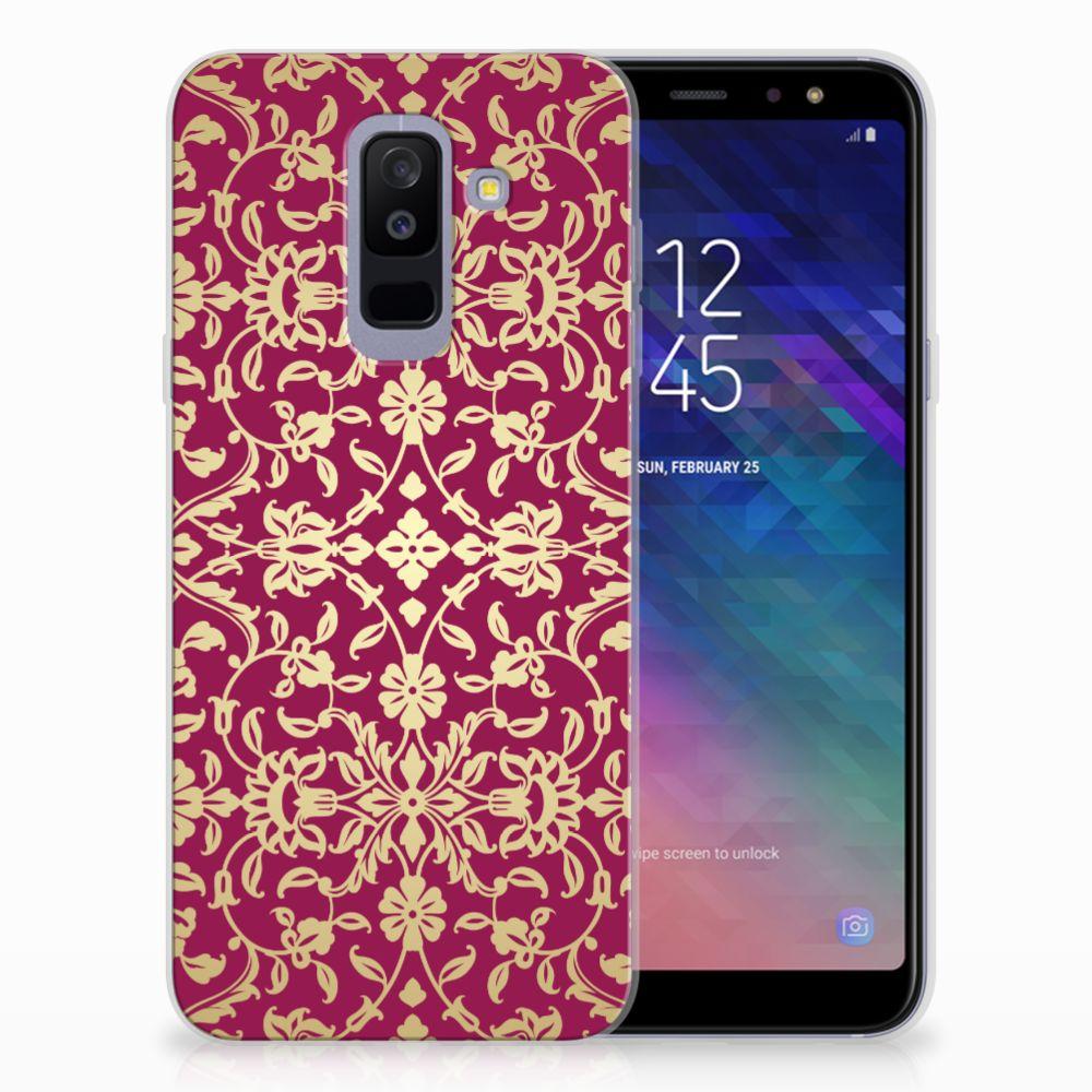 Samsung Galaxy A6 Plus (2018) TPU Hoesje Design Barok Pink