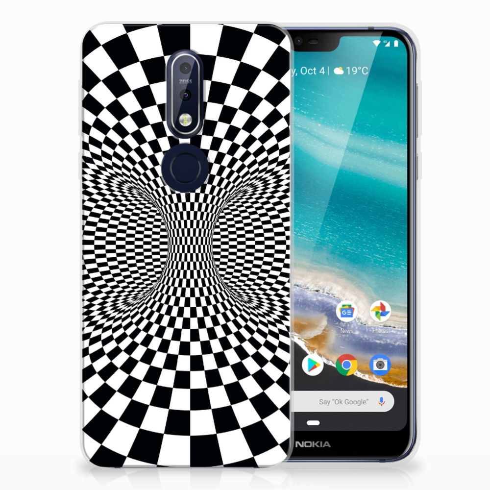Nokia 7.1 TPU Hoesje Illusie