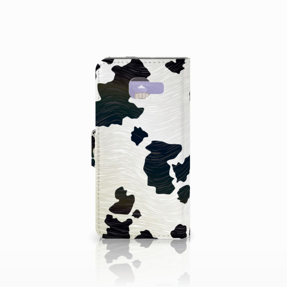 Samsung Galaxy A3 2016 Telefoonhoesje met Pasjes Koeienvlekken