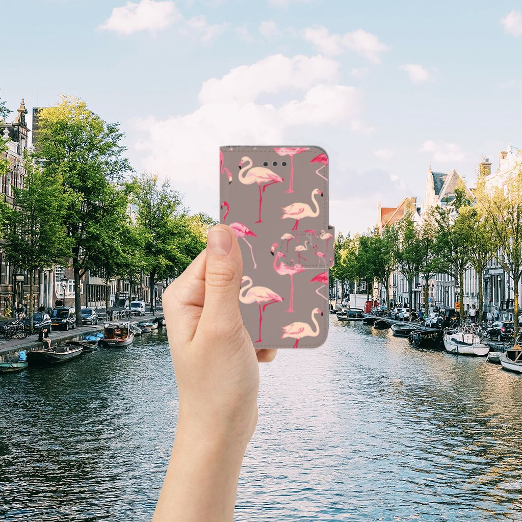 Apple iPhone 6 | 6s Uniek Boekhoesje Flamingo