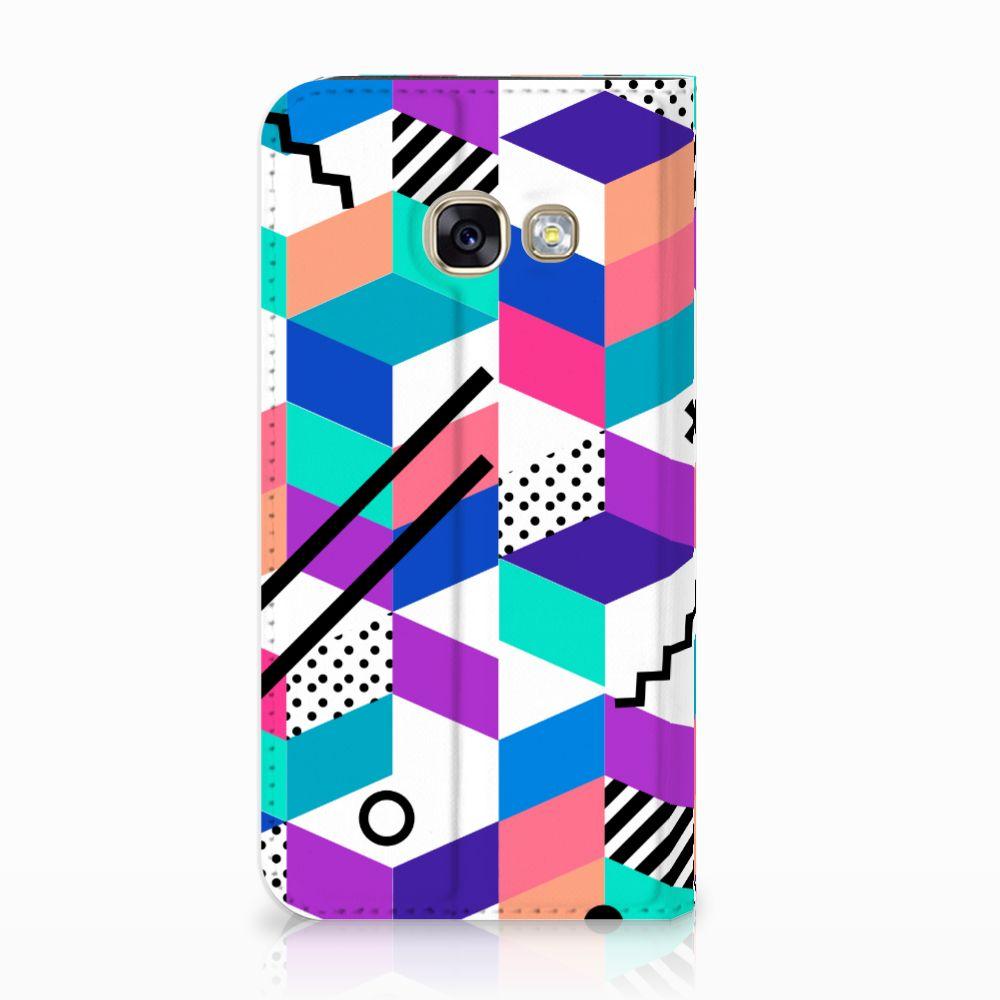 Samsung Galaxy A3 2017 Stand Case Blokken Kleurrijk