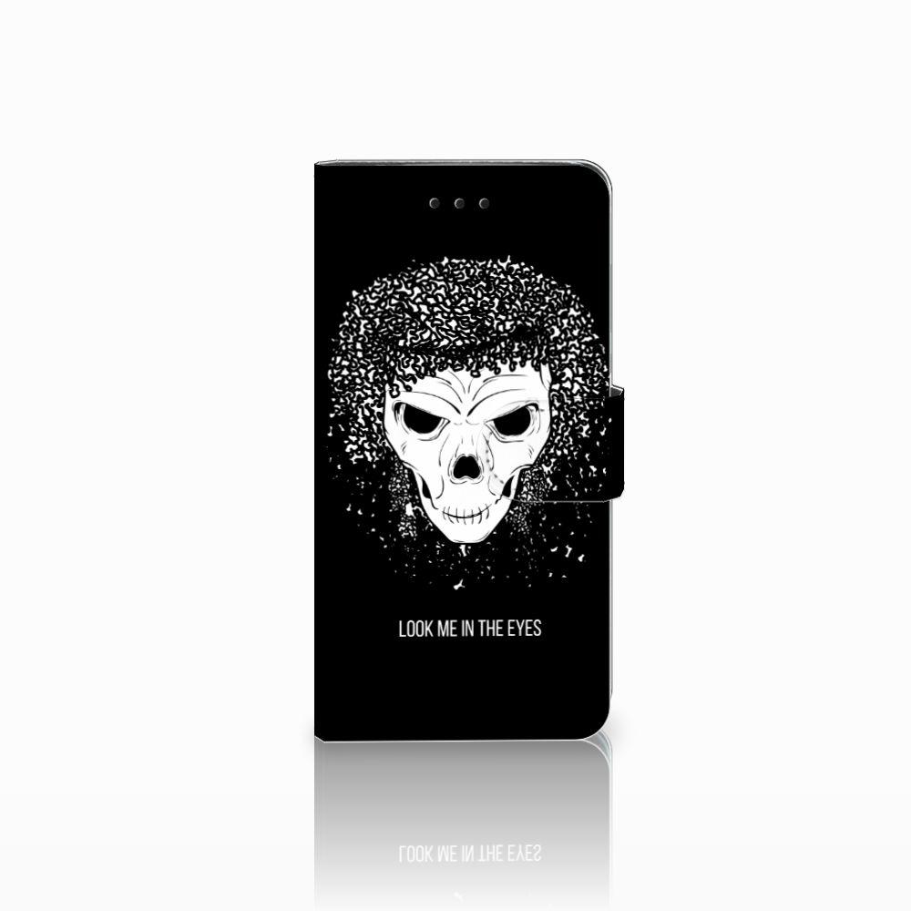 Huawei Y5 2018 Uniek Boekhoesje Skull Hair