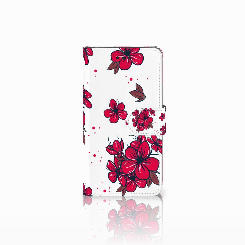 Samsung Galaxy J2 Pro 2018 Boekhoesje Design Blossom Red