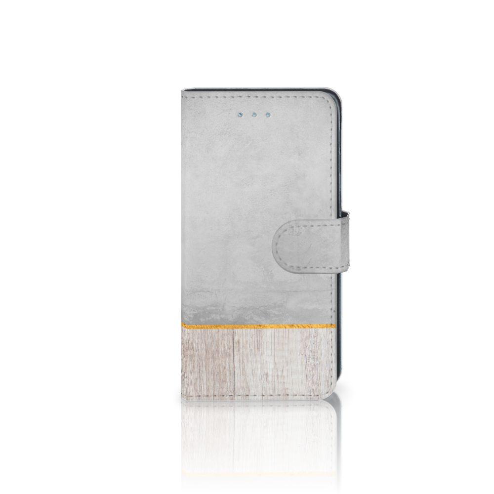 Samsung Galaxy J3 2016 Book Style Case Wood Concrete