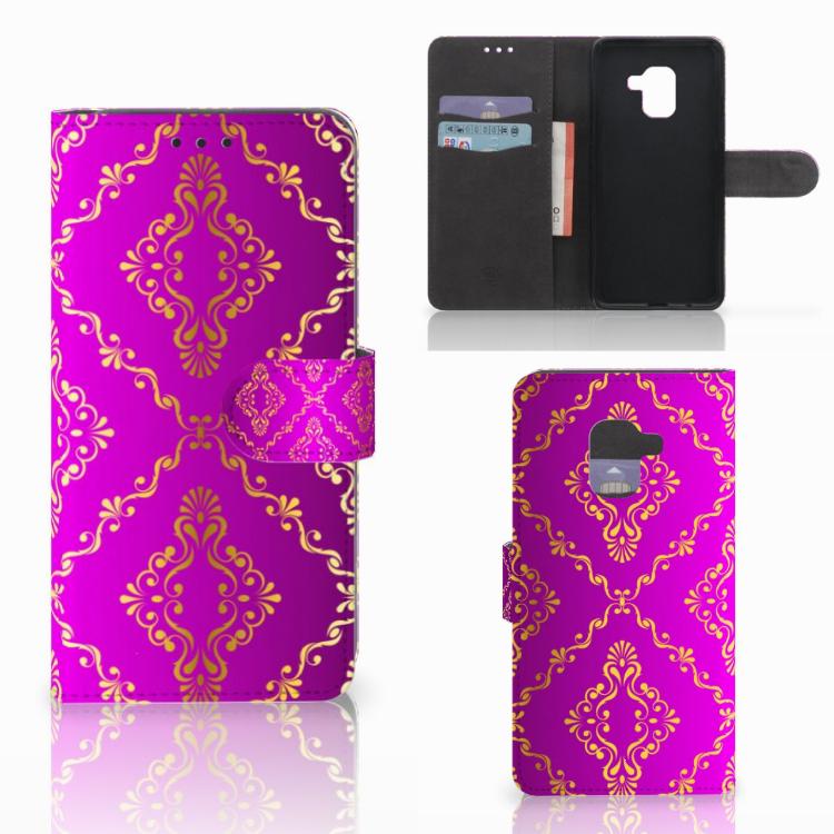Wallet Case Samsung Galaxy A8 2018 Barok Roze