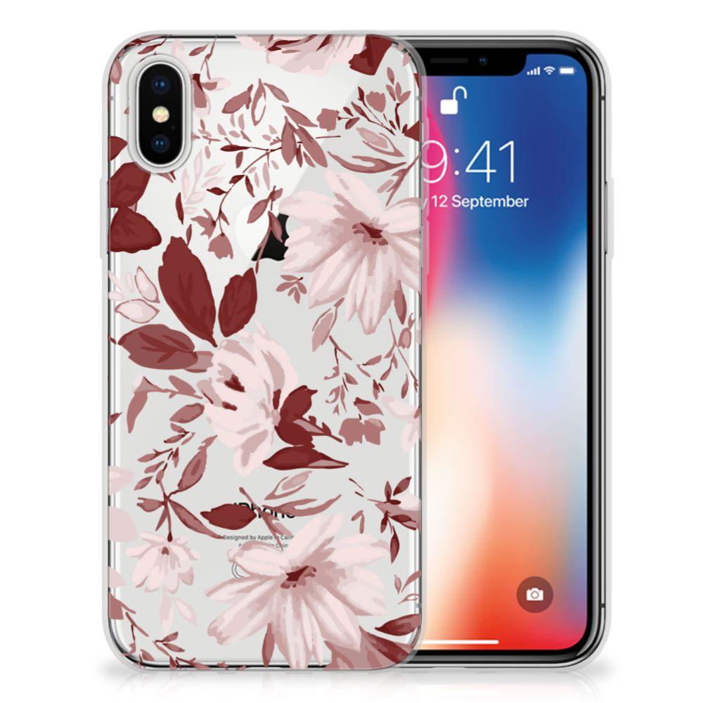 Apple iPhone X | Xs Uniek TPU Hoesje Watercolor Flowers