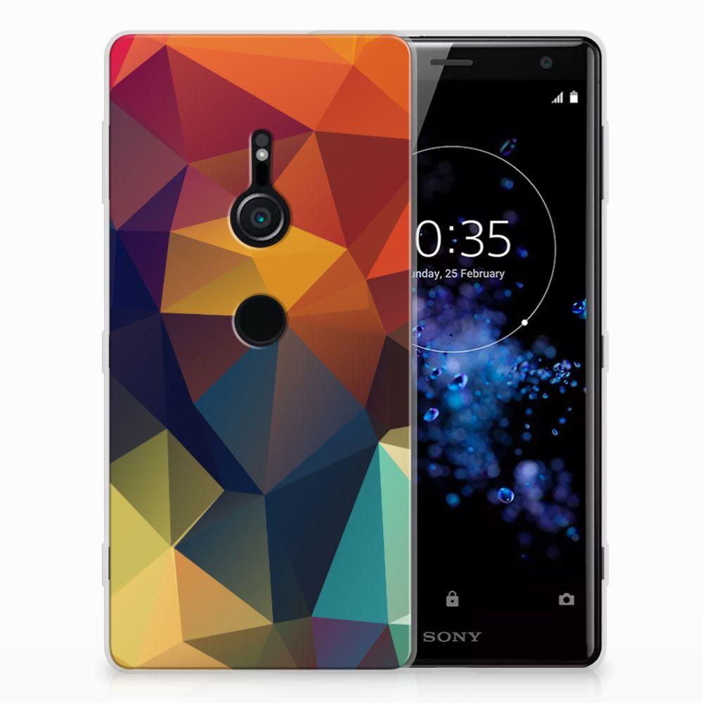 Sony Xperia XZ2 TPU Hoesje Polygon Color