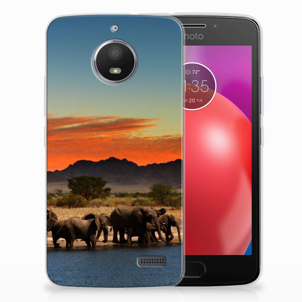Motorola Moto E4 TPU Hoesje Design Olifanten