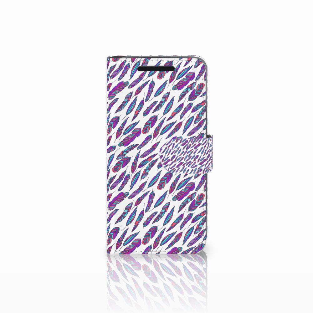 HTC One M9 Boekhoesje Design Feathers Color