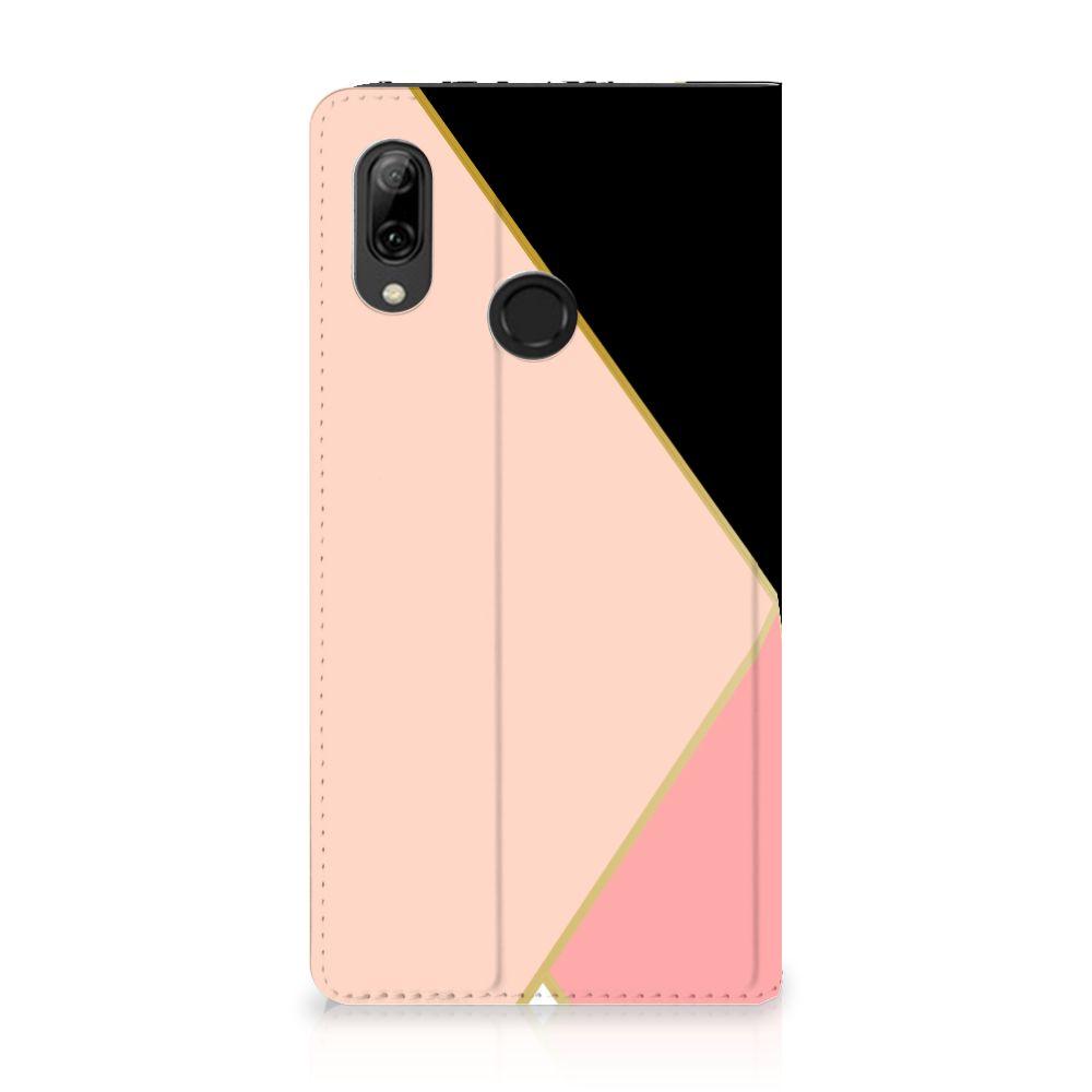 Huawei P Smart (2019) Stand Case Zwart Roze Vormen