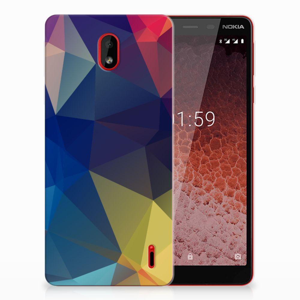 Nokia 1 Plus TPU Hoesje Polygon Dark