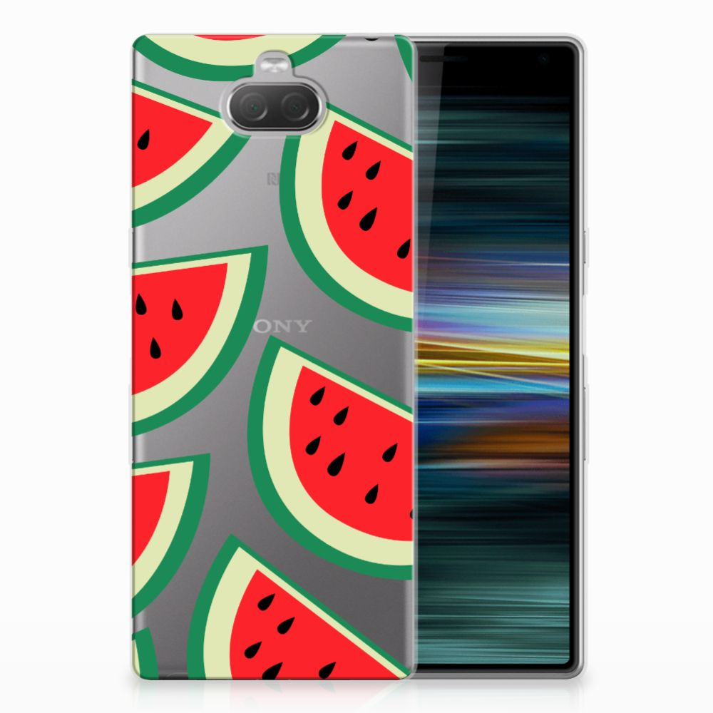 Sony Xperia 10 Plus Siliconen Case Watermelons