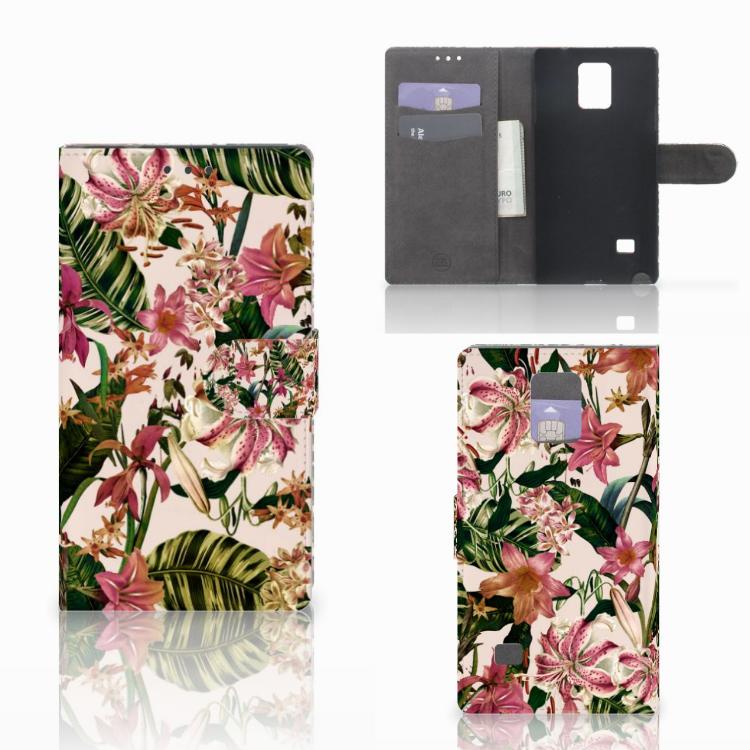 Samsung Galaxy Note 4 Hoesje Flowers