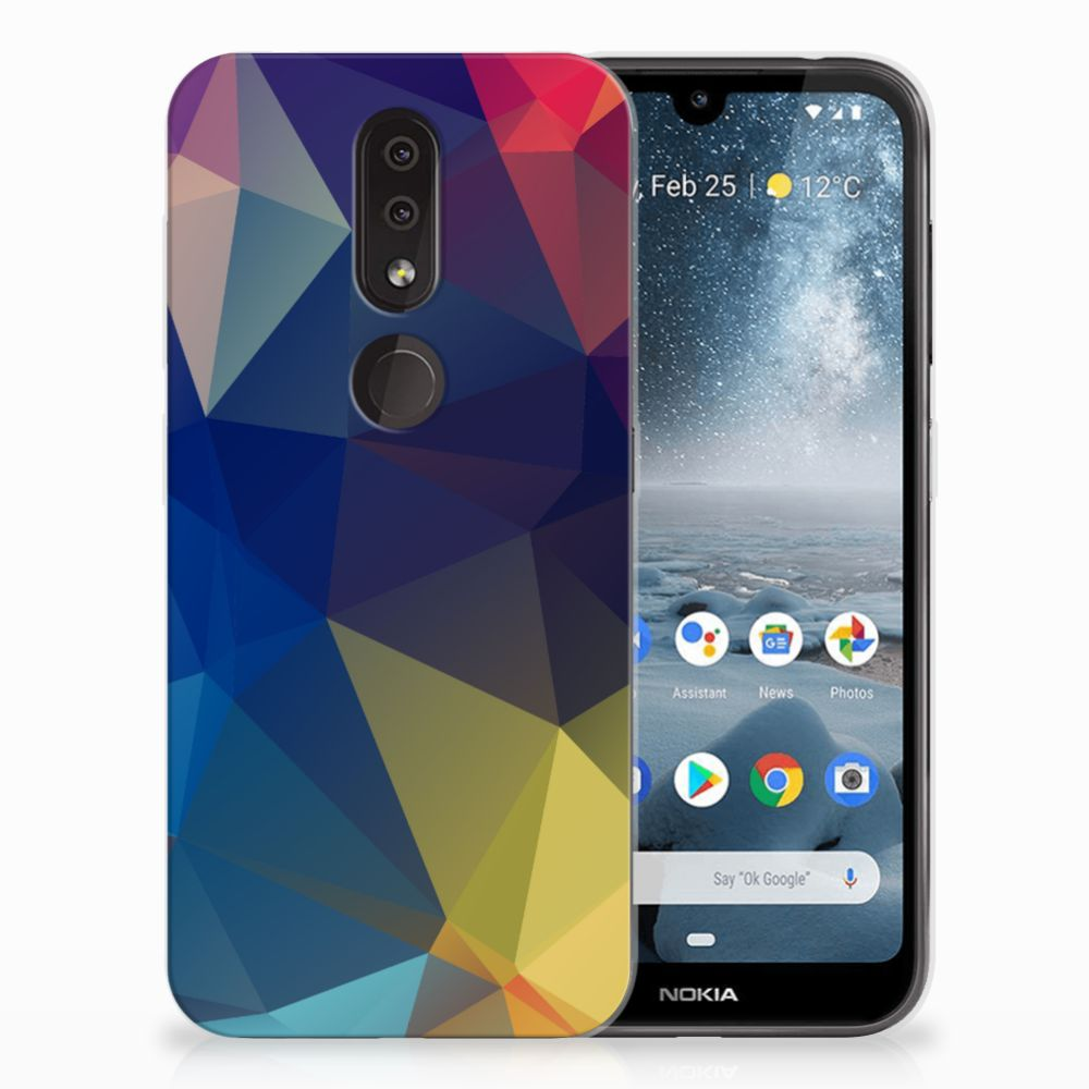 Nokia 4.2 Uniek TPU Hoesje Polygon Dark