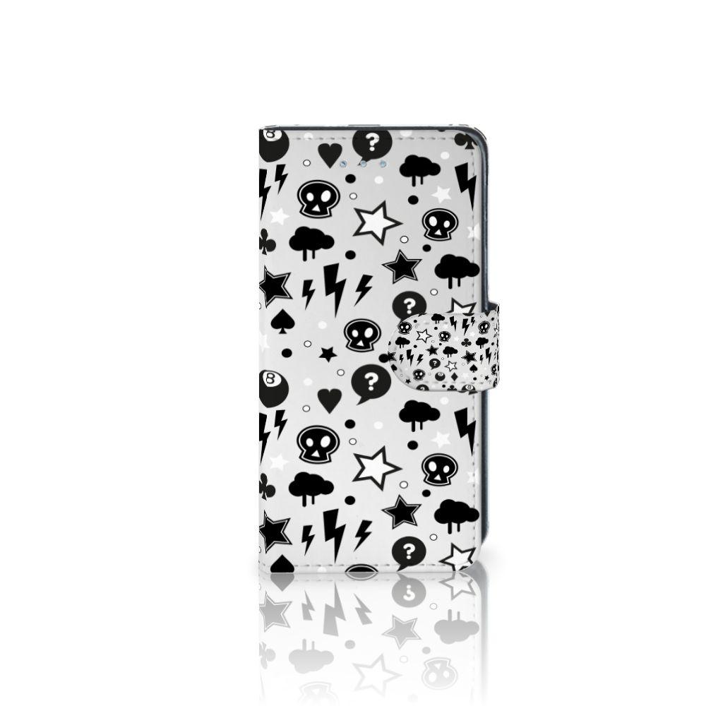 Samsung Galaxy J3 2016 Uniek Boekhoesje Silver Punk
