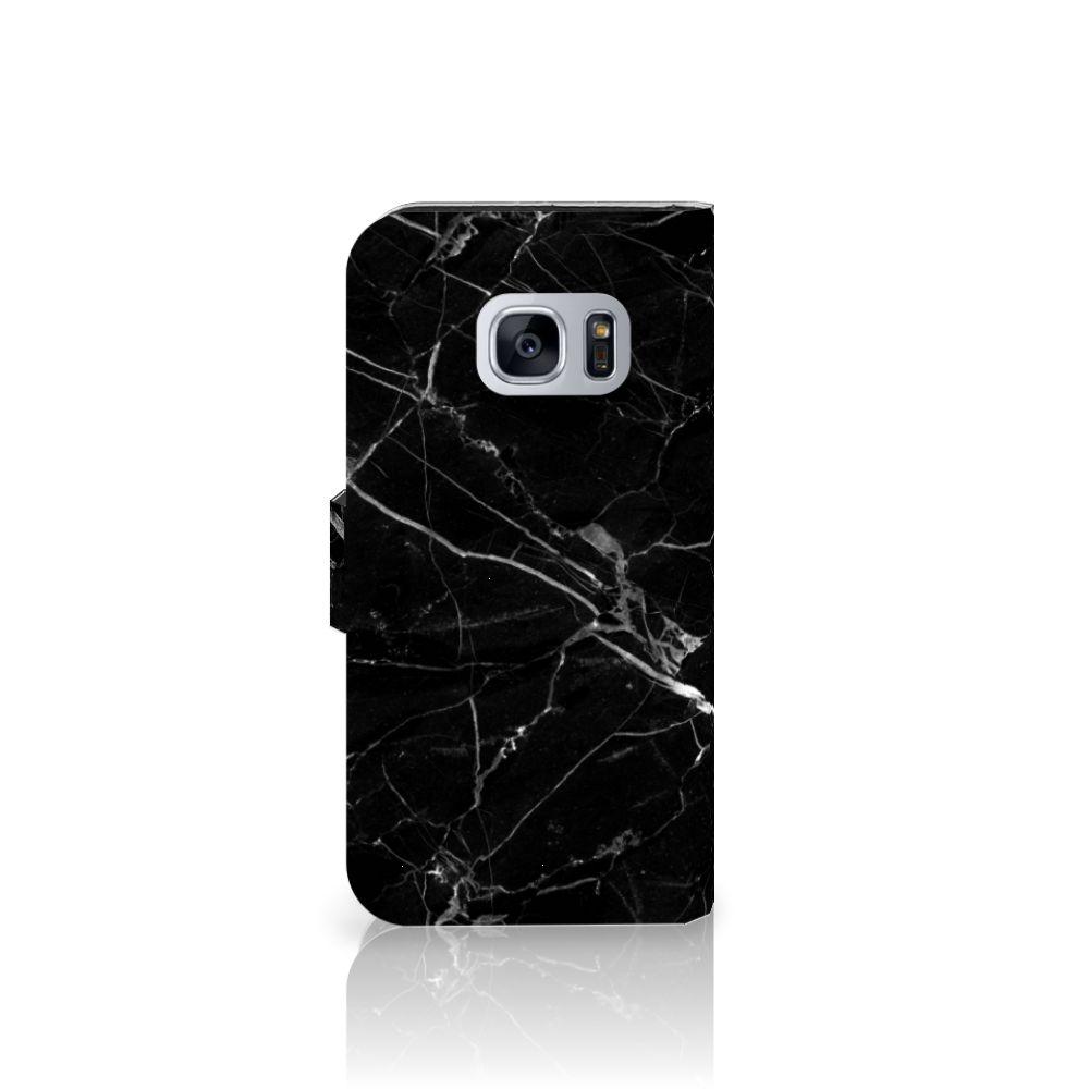 Samsung Galaxy S7 Bookcase Marmer Zwart