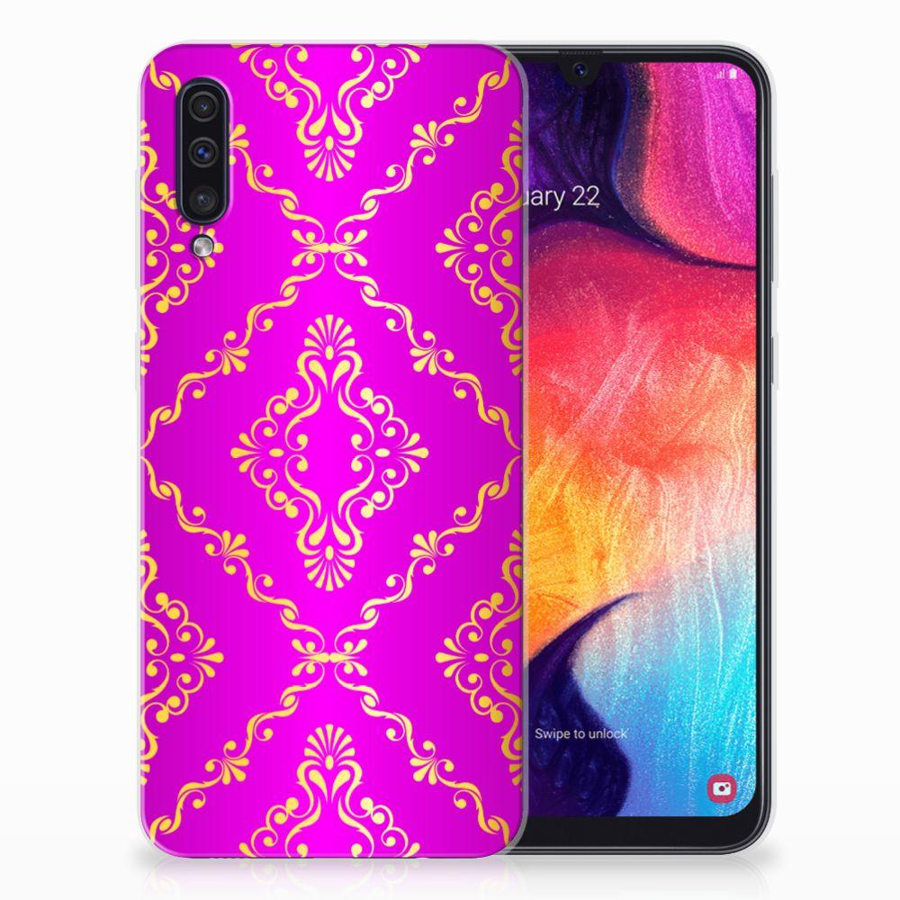 Siliconen Hoesje Samsung Galaxy A50 Barok Roze