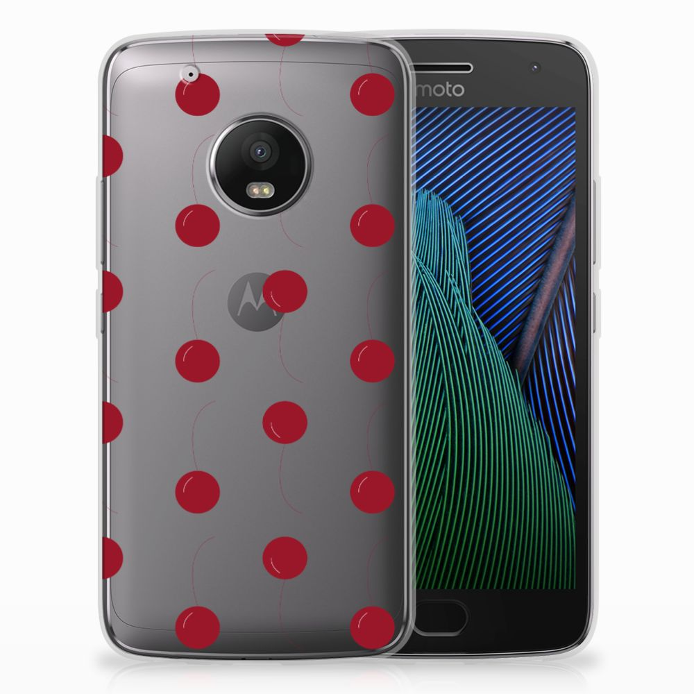 Motorola Moto G5 Plus Siliconen Case Cherries