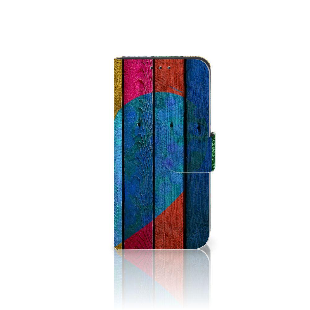 Motorola Moto G4 Play Uniek Boekhoesje Wood Heart