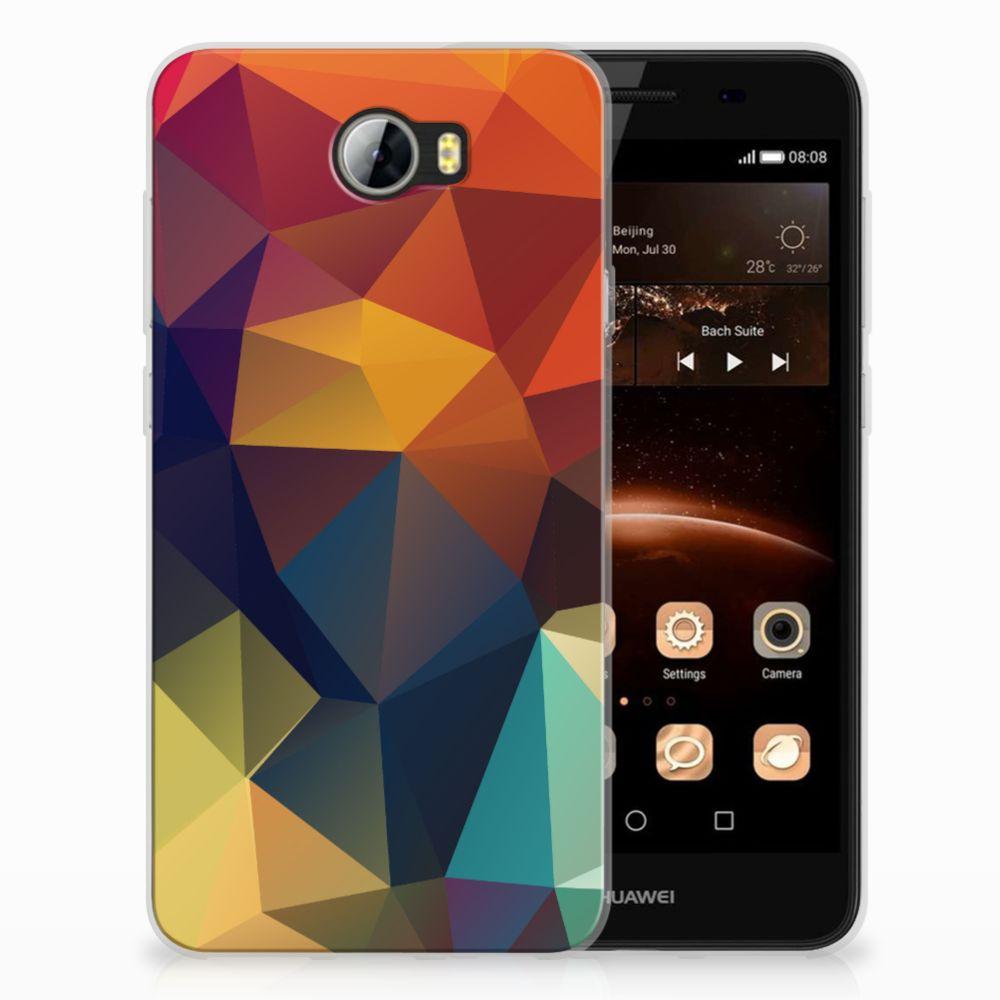 Huawai Y5 II   Y6 II Compact TPU Hoesje Polygon Color