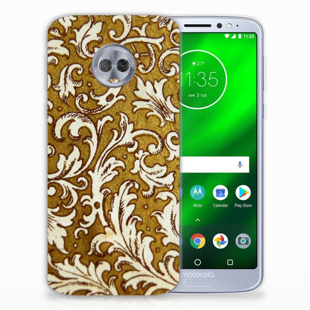 Siliconen Hoesje Motorola Moto G6 Plus Barok Goud