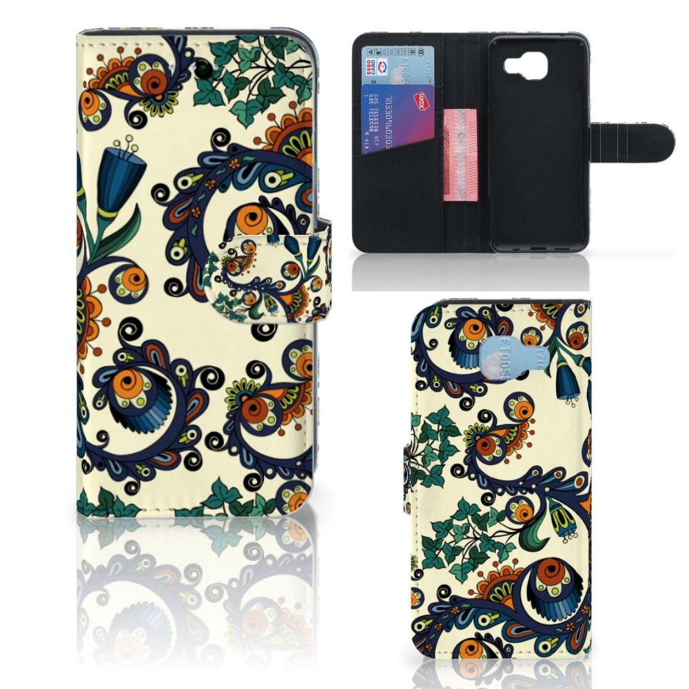 Wallet Case Samsung Galaxy A5 2016 Barok Flower